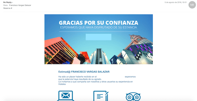 ejemplo mala praxis email marketing 1