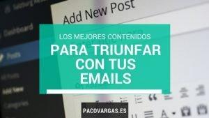 mejores contenidos para emails