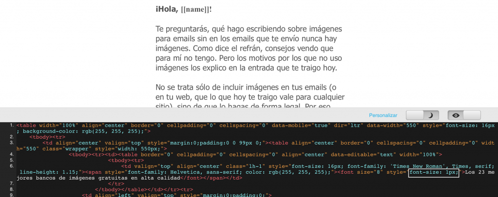 cómo personalizar la vista previa de tus emails 4